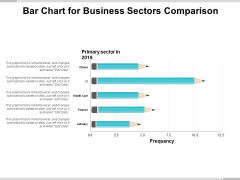 Bar Chart For Business Sectors Comparison Ppt PowerPoint Presentation Professional Guide