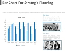 Bar Chart For Strategic Planning Powerpoint Slides