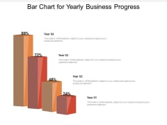 Bar Chart For Yearly Business Progress Ppt PowerPoint Presentation Outline Backgrounds PDF