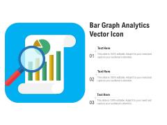 Bar Graph Analytics Vector Icon Ppt PowerPoint Presentation Slides Information PDF