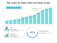 Bar Graph For Sales Inflow And Goals Graph Ppt PowerPoint Presentation Infographics Visual Aids PDF
