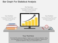 Bar Graph For Statistical Analysis Powerpoint Template