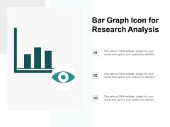 Bar Graph Icon For Research Analysis Ppt PowerPoint Presentation Summary Portfolio