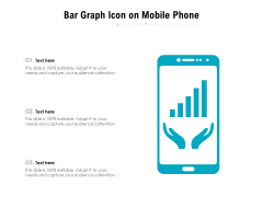 Bar Graph Icon On Mobile Phone Ppt PowerPoint Presentation Gallery Objects PDF