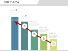 Bar Graph Infographics With Success Arrow Powerpoint Slides
