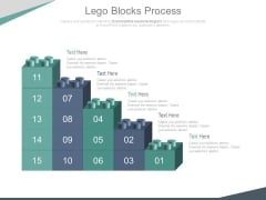 Bar Graph Of Lego Blocks For Data Analysis Powerpoint Slides