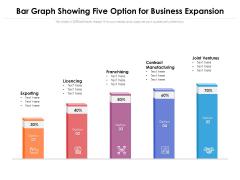 Bar Graph Showing Five Option For Business Expansion Ppt PowerPoint Presentation Portfolio Brochure PDF