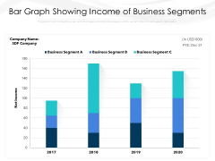 Bar Graph Showing Income Of Business Segments Ppt PowerPoint Presentation Icon Example PDF