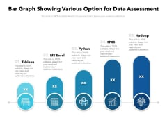 Bar Graph Showing Various Option For Data Assessment Ppt PowerPoint Presentation Model File Formats PDF