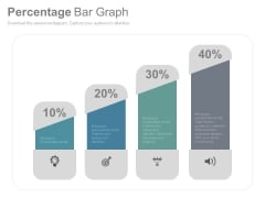 Bar Graph To Compare Business Data PowerPoint Slides