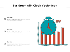 Bar Graph With Clock Vector Icon Ppt PowerPoint Presentation Show Structure PDF