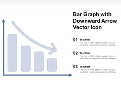 Bar Graph With Downward Arrow Vector Icon Ppt PowerPoint Presentation Layouts Guide PDF