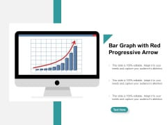 Bar Graph With Red Progressive Arrow Ppt PowerPoint Presentation Outline