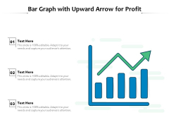 Bar Graph With Upward Arrow For Profit Ppt PowerPoint Presentation Icon Example PDF