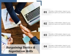Bargaining Tactics And Negotiation Skills Ppt Powerpoint Presentation Ideas Tips