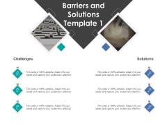 Barriers And Solutions Challenges Ppt PowerPoint Presentation Professional