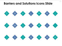 Barriers And Solutions Icons Slide Security Technology Ppt PowerPoint Presentation Model Information