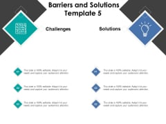 Barriers And Solutions Problem Ppt PowerPoint Presentation Backgrounds