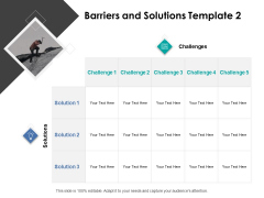 Barriers And Solutions Vision Ppt PowerPoint Presentation Icon Show