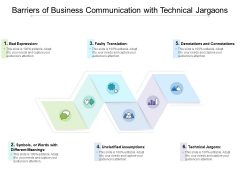Barriers Of Business Communication With Technical Jargaons Ppt PowerPoint Presentation Infographic Template Information PDF