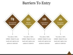 Barriers To Entry Ppt PowerPoint Presentation Sample