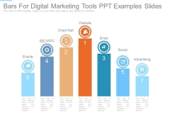 Bars For Digital Marketing Tools Ppt Examples Slides