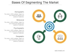 Bases Of Segmenting The Market Ppt PowerPoint Presentation Visuals