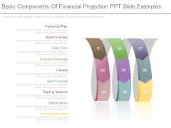 Basic Components Of Financial Projection Ppt Slide Examples