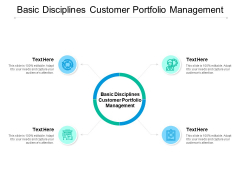 Basic Disciplines Customer Portfolio Management Ppt PowerPoint Presentation Pictures Influencers