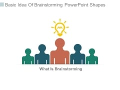 Basic Idea Of Brainstorming Powerpoint Shapes