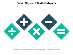 Basic Signs Of Math Subjects Ppt PowerPoint Presentation Gallery Graphics PDF