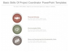 Basic Skills Of Project Coordinator Powerpoint Templates