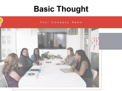 Basic Thought Strategies Circle Ppt PowerPoint Presentation Complete Deck