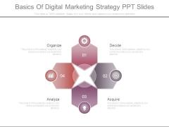 Basics Of Digital Marketing Strategy Ppt Slides