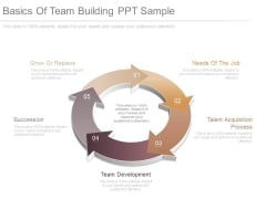 Basics Of Team Building Ppt Sample