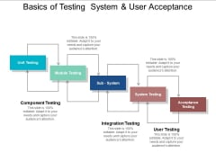 Basics Of Testing System And User Acceptance Ppt PowerPoint Presentation Layouts Design Ideas