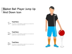 Basket Ball Player Jump Up And Down Icon Ppt PowerPoint Presentation File Background Designs PDF