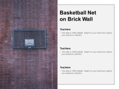 Basketball Net On Brick Wall Ppt PowerPoint Presentation Outline Skills