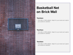 Basketball Net On Brick Wall Ppt PowerPoint Presentation Outline Skills
