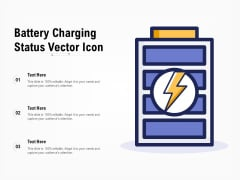 Battery Charging Status Vector Icon Ppt PowerPoint Presentation Pictures Slides