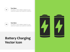 Battery Charging Vector Icon Ppt PowerPoint Presentation File Outfit PDF