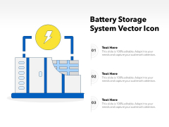 Battery Storage System Vector Icon Ppt PowerPoint Presentation File Vector PDF