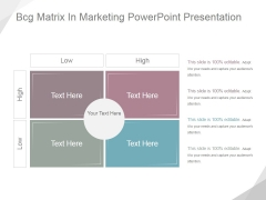 Bcg Matrix In Marketing Ppt PowerPoint Presentation Ideas