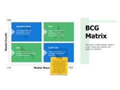Bcg Matrix Ppt PowerPoint Presentation Professional Designs Download