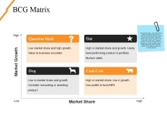 Bcg Matrix Ppt PowerPoint Presentation Slides Ideas