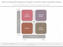 Bcm For Stakeholder Management Diagram Powerpoint Slides Presentation Sample