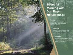 Beautiful Morning With Sun Rays Nature Image Ppt PowerPoint Presentation Themes