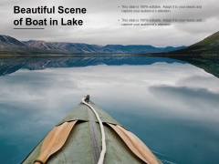 Beautiful Scene Of Boat In Lake Ppt PowerPoint Presentation Show Infographic Template