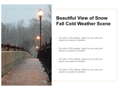 Beautiful View Of Snow Fall Cold Weather Scene Ppt PowerPoint Presentation Icon Design Templates