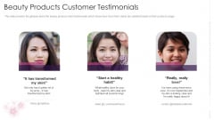 Beauty Products Customer Testimonials Microsoft PDF